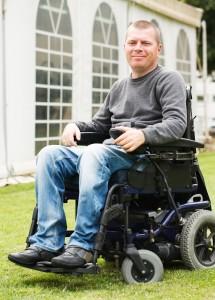 Disabled men in Wheelchair.
