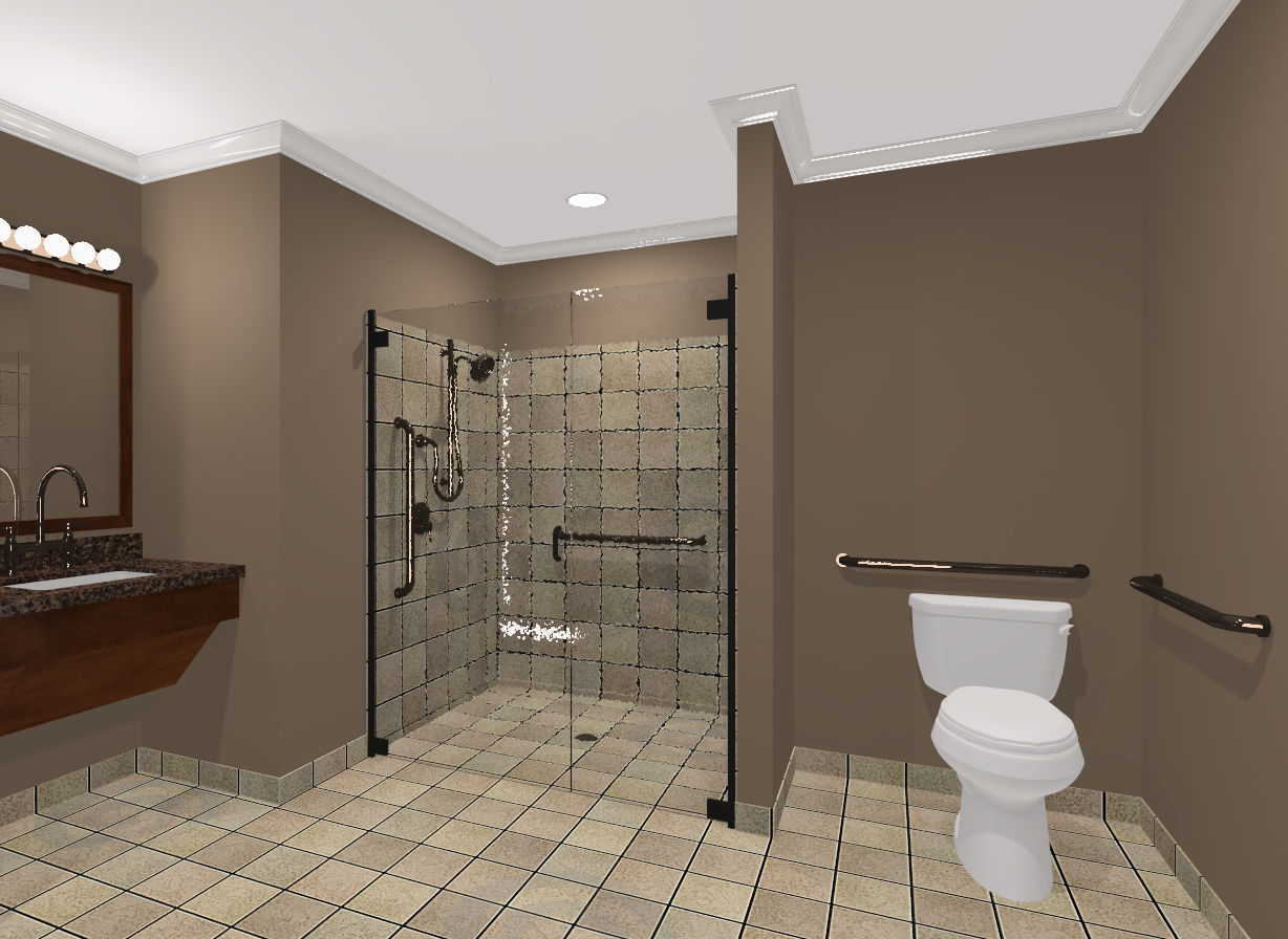 Flexassist bathroom for Model bathroom designs